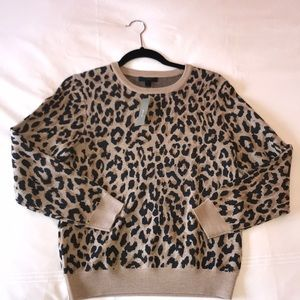 NWT JCrew leapord sweater